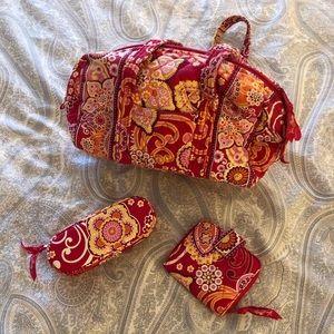 Vera Bradley purse glasses case wallet in Raz Fiz